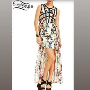 NWOT Material Girl Floral Print Illusion Dress